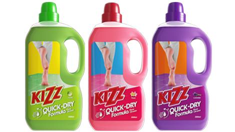 Kizz quick-dry formula