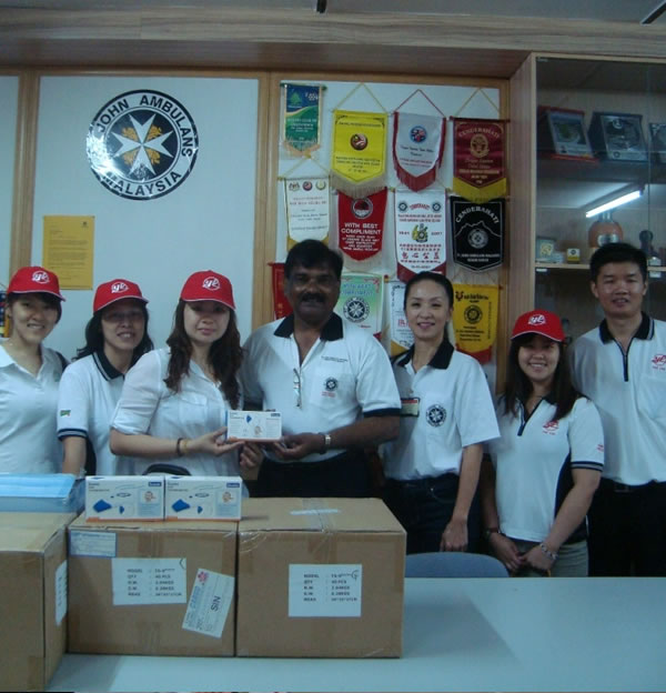 Donation of Ear Thermometers to St. John Ambulans Malaysia (Perak)