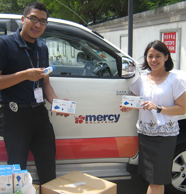 Ear Thermometers Donation to Mercy Malaysia